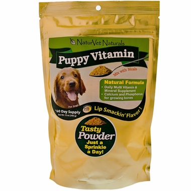 NaturVet Puppy Vitamin Powder 60 Day Supply (12 oz)