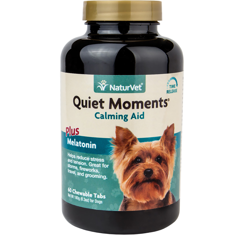 NaturVet Quiet Moments - Calming Aid Plus Melatonin (60 Tabs)
