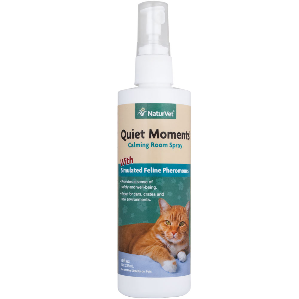 NaturVet Quiet Moments Herbal Calming Spray - Feline (8 oz)