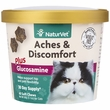 NaturVet® Aches & Discomfort Plus Glucosamine for Cats (60 Soft Chew)