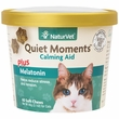 NaturVet Quiet Moments Calming Aid Plus Melatonin for Cats (60 Soft Chew)