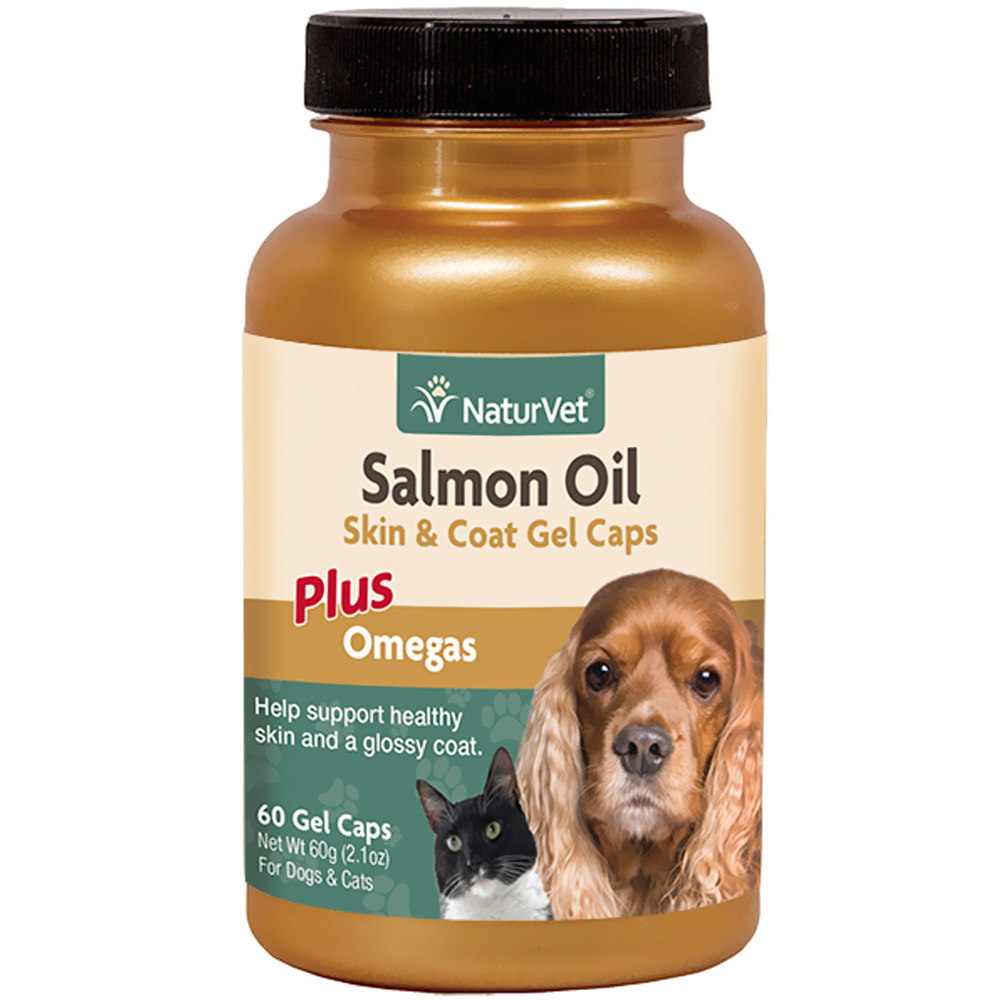 NaturVet Salmon Oil Gel Caps (60 ct)