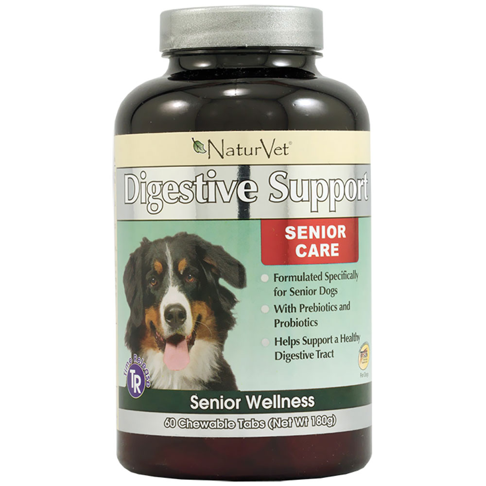 NaturVet Senior Digestive Support (60 chewable tablets)