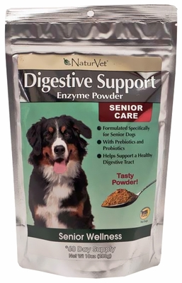 NaturVet Senior Digestive Support Enzymes Powder (10 oz)