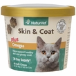 NaturVet Skin & Coat Plus Omegas for Cats (60 Soft Chews)