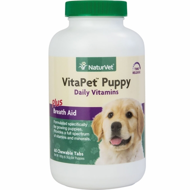 NaturVet VitaPet Puppy Vitamins & Minerals (60 chewable tablets)
