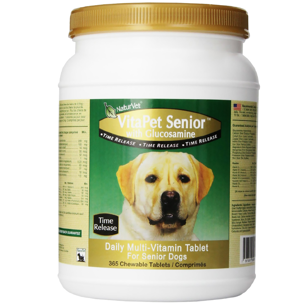 Naturvet Vitapet Senior With Glucosamine 365 Chewable
