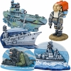 Navy Aquarium Ornament Sets