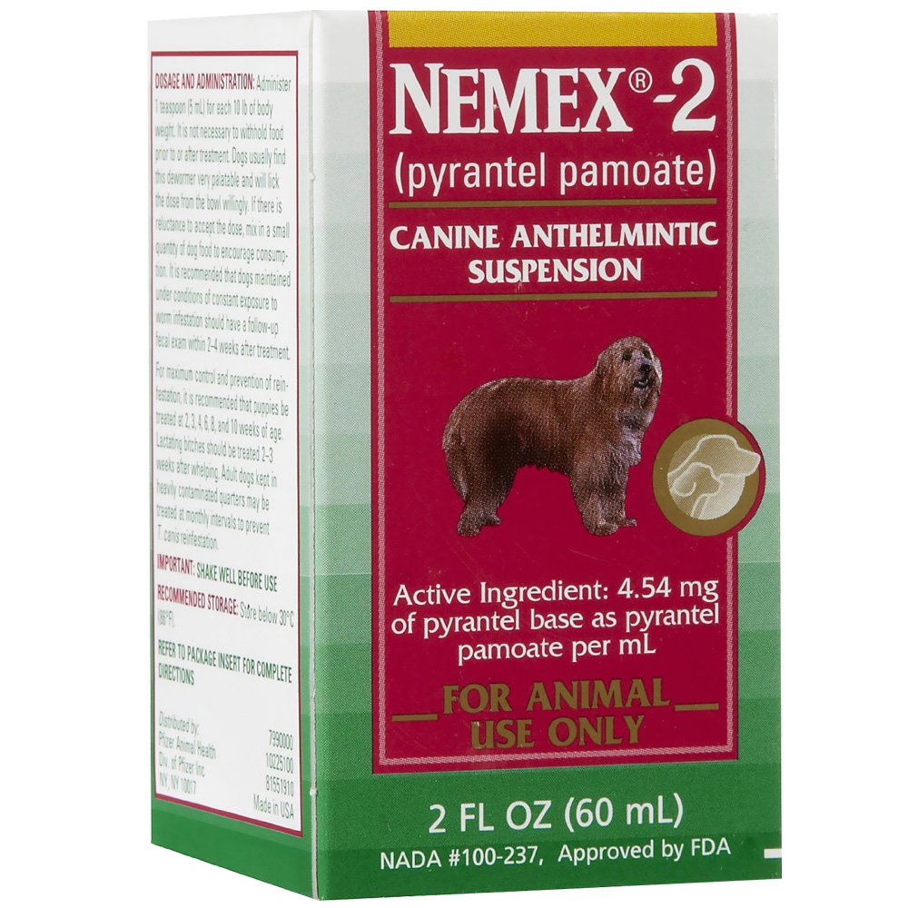 Nemex-2 Wormer by Pfizer: 2 oz (60 mL)