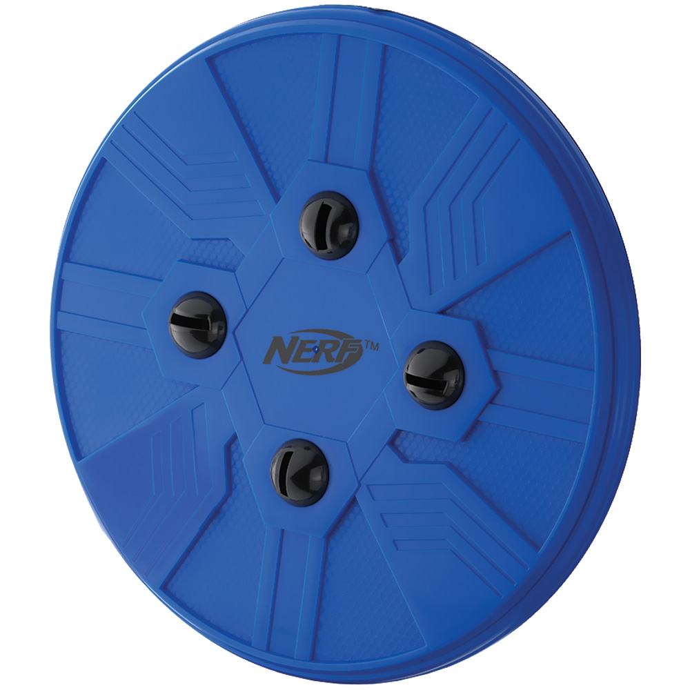 Nerf Pet Whistle Flying Disc Blue Entirelypets