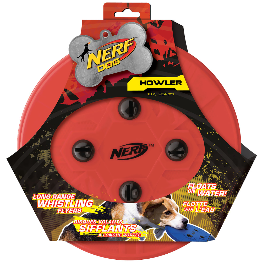Nerf Dog Whistle Flying Disc - Red