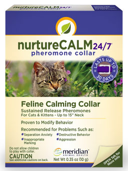 "NurtureCALM 24/7 Feline Calming Pheromone Collar (Upto 15"" Neck)"
