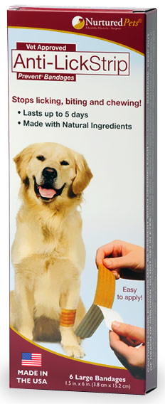 Nurtured Pets Anti-Lick Strip Prevent - Large (Pack of 6)