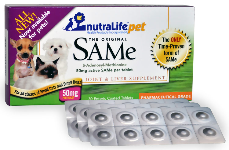 NutraLife Pet SAMe 50mg (30 tablets)