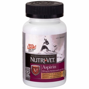 Nutri-Vet K-9 Aspirin for Large Dogs (75 Chewables)