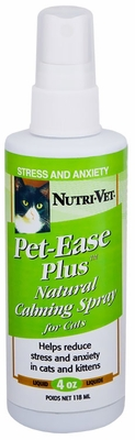 Nutri-Vet Pet-Ease Natural Calming Spray for Cats (4 oz)