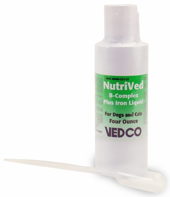 NutriVed B Complex Plus Iron Liquid (4 oz.)