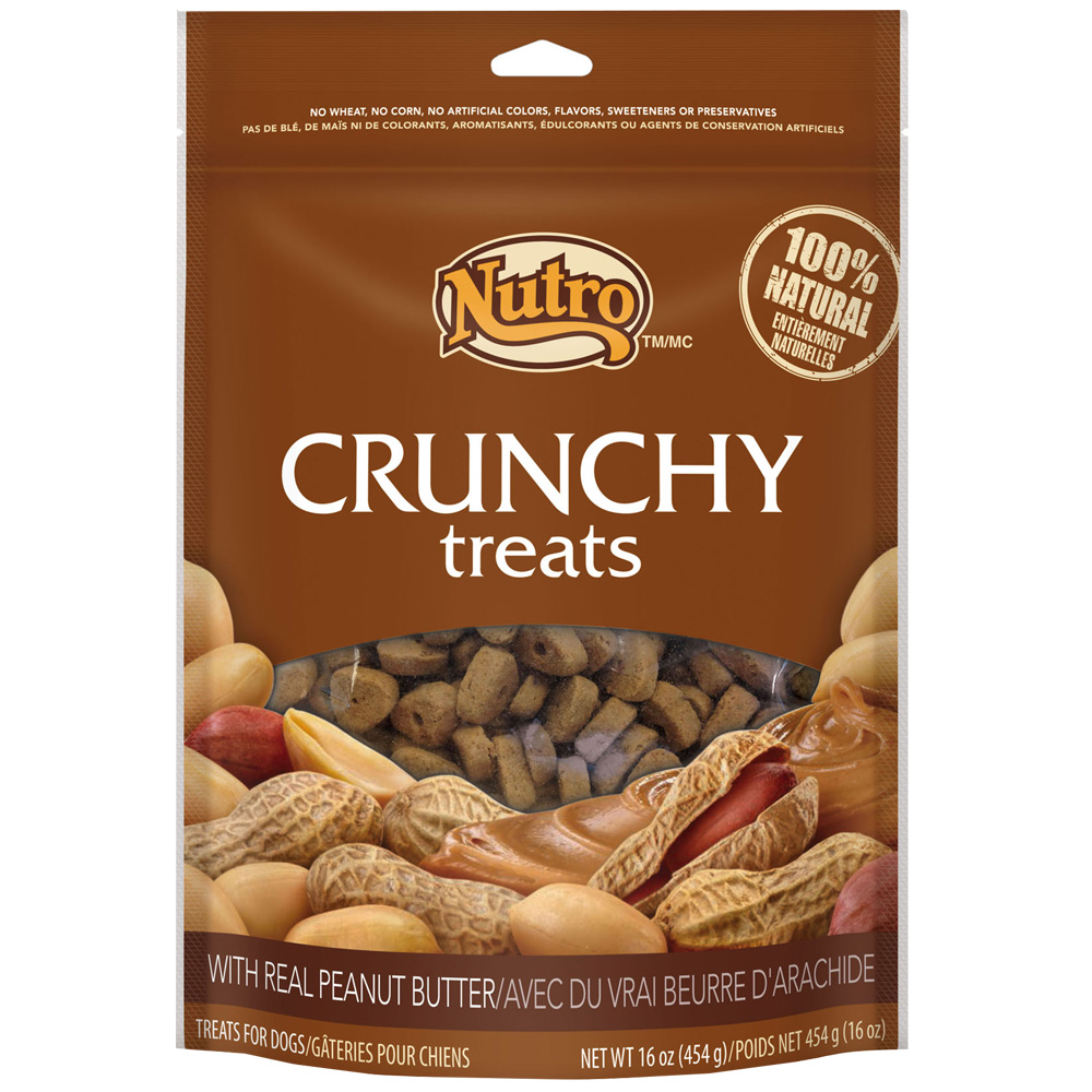 Nutro Crunchy Treats Peanut Butter (16 oz)