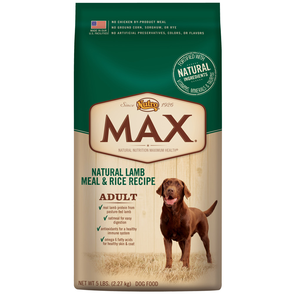 Nutro Max Lamb & Rice - Adult Dog (5 lb)