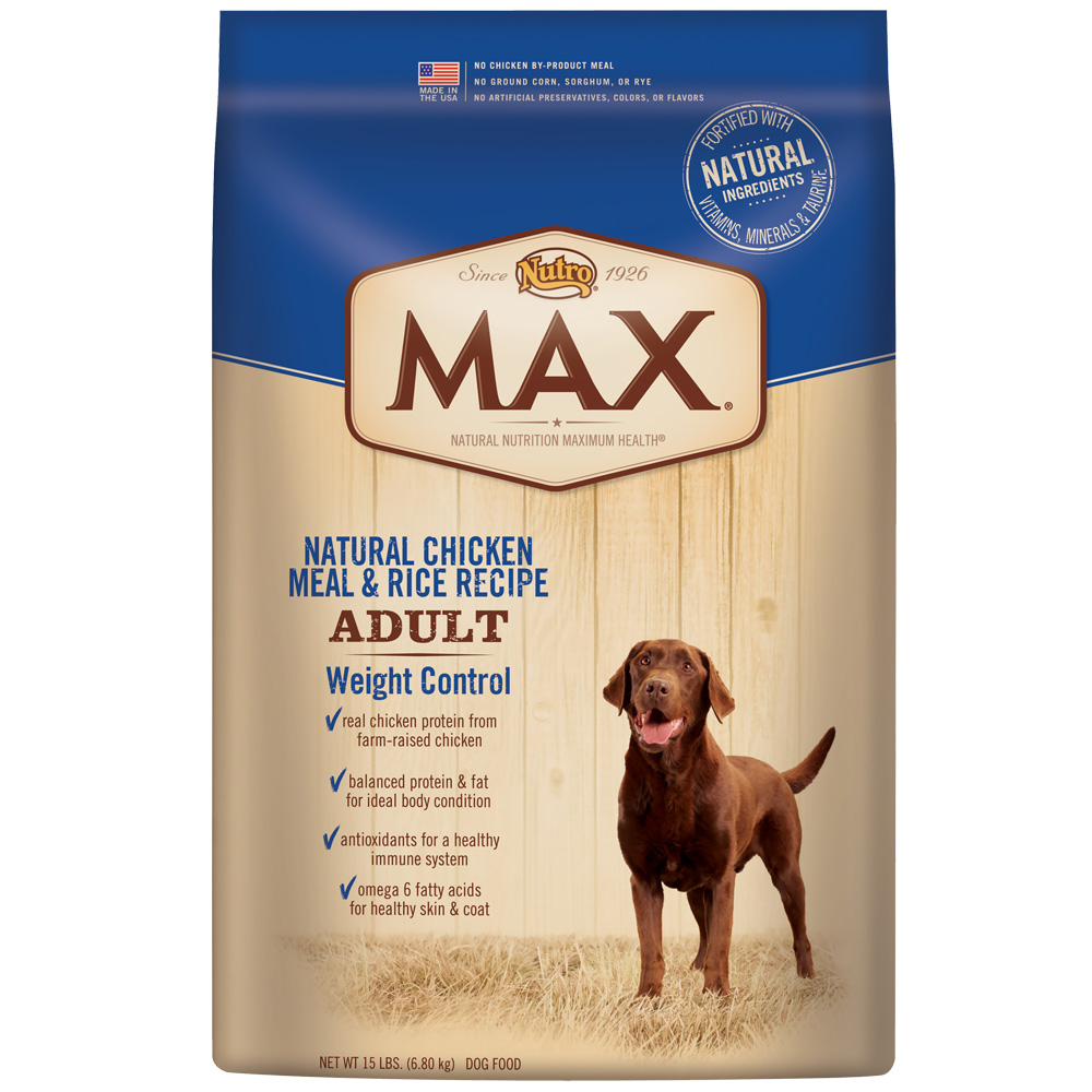 Nutro Max Weight Control Chicken & Rice - Adult Dog (15 lb)