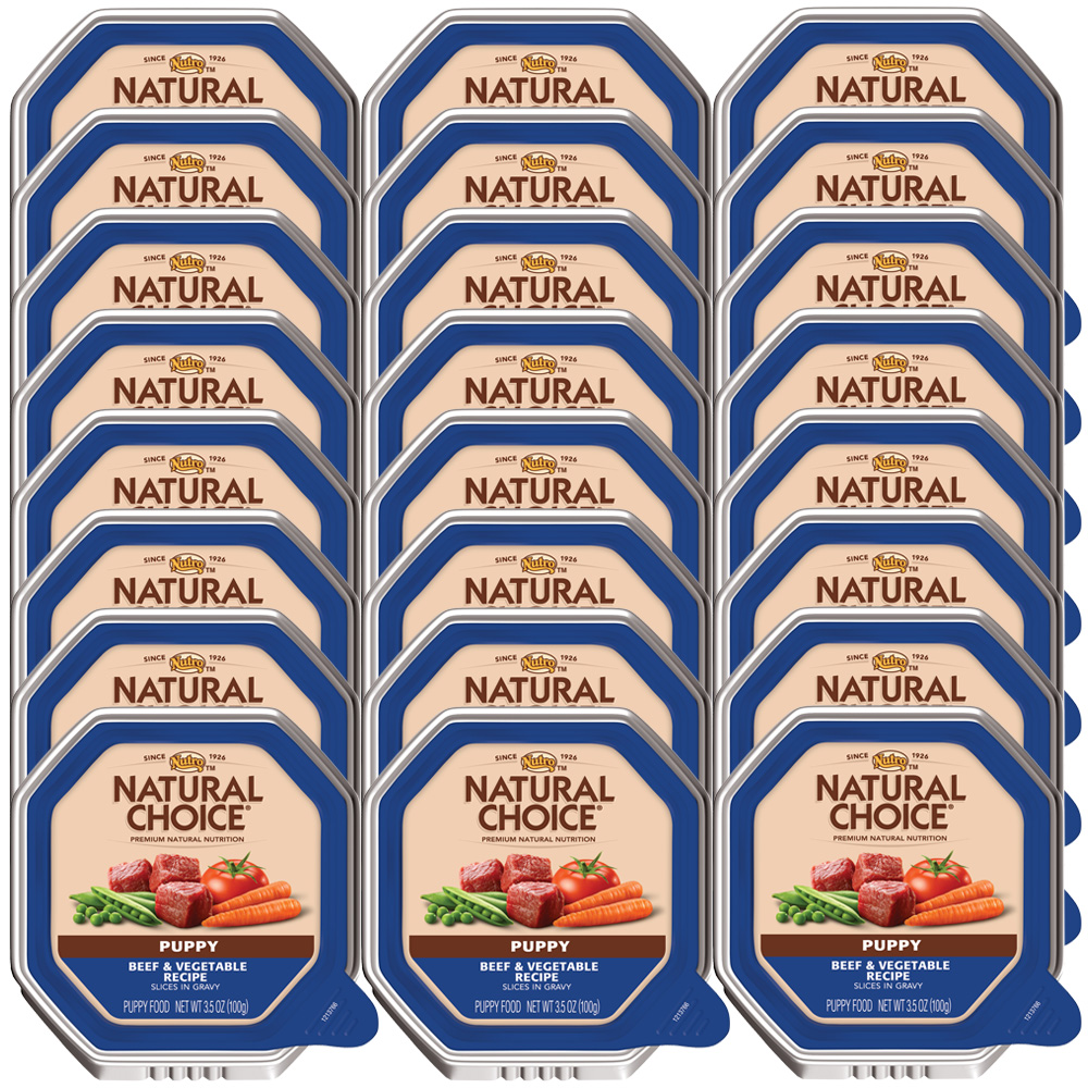 Nutro Natural Choice Beef & Vegetable - Puppy (24x3.5oz)