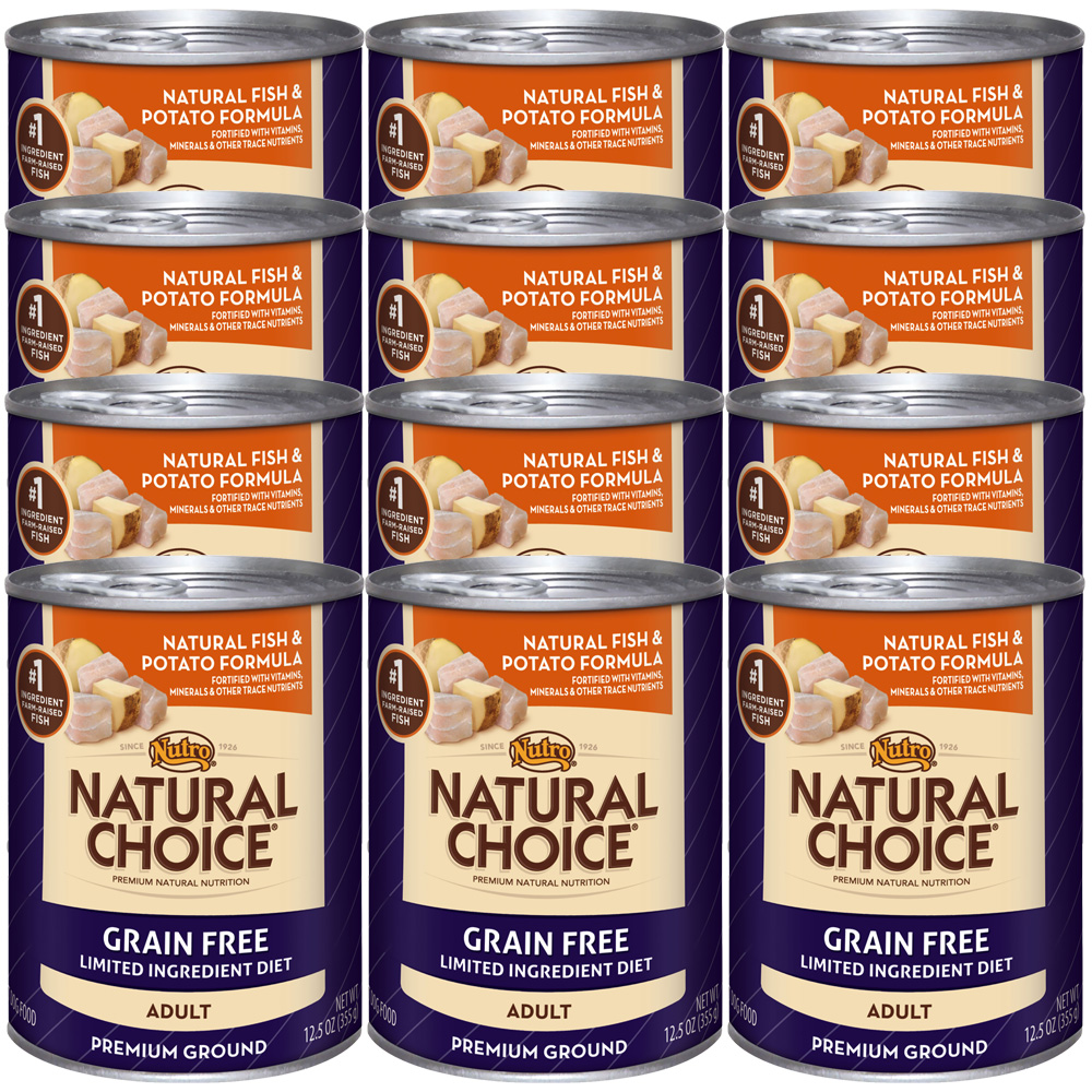 Nutro Natural Choice Grain Free Fish & Potato - Adult Dog (12x12.5oz)