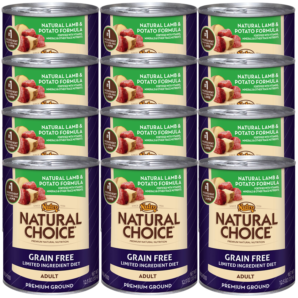 Nutro Natural Choice Grain Free Lamb & Potato - Adult Dog (12x12.5oz)