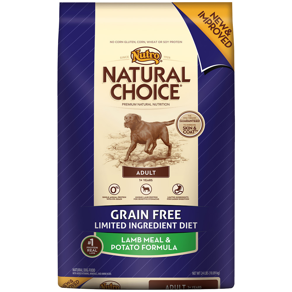 Nutro Natural Choice Grain Free Lamb & Potato - Adult Dog (24 lb)