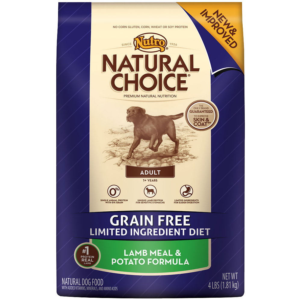 Nutro Natural Choice Grain Free Lamb & Potato - Adult Dog (4 lb)