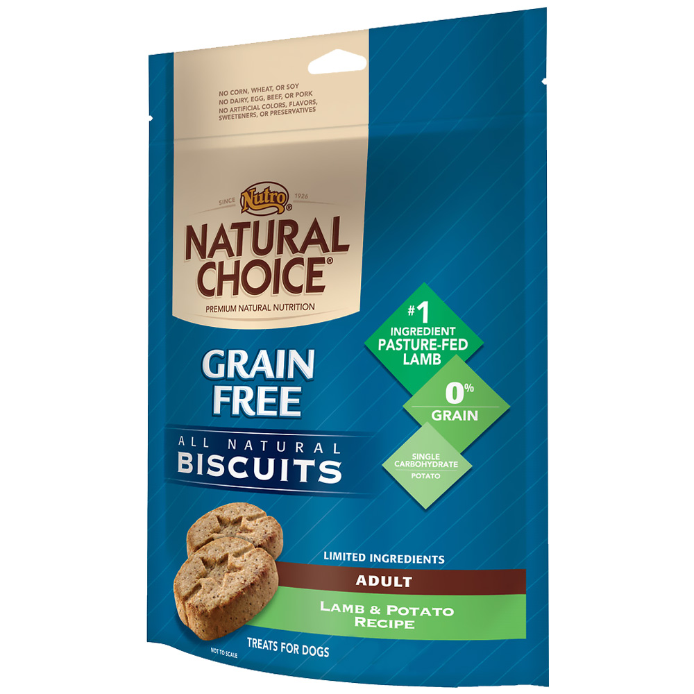 Nutro Natural Choice Grain Free Lamb & Potato Biscuit - Adult Dog (8 oz)