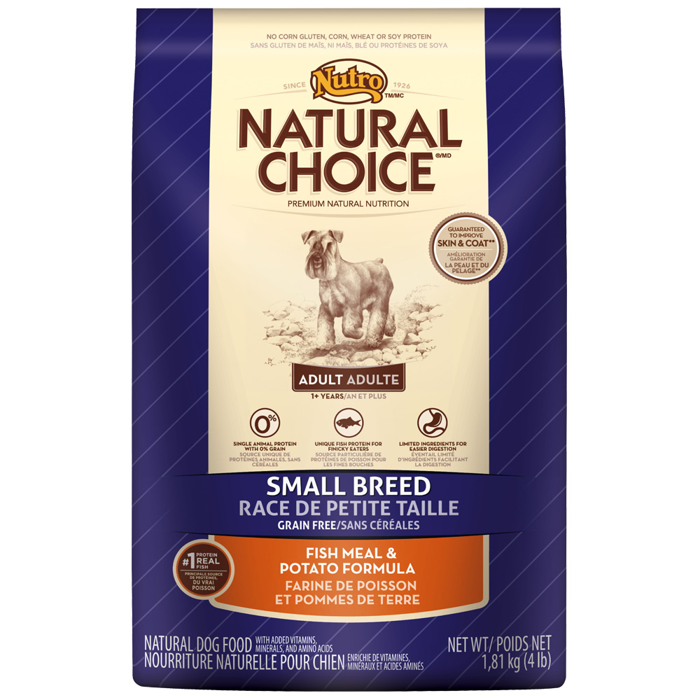 Nutro Natural Choice Grain Free Small Breed Fish & Potato - Adult Dog (4 lb)