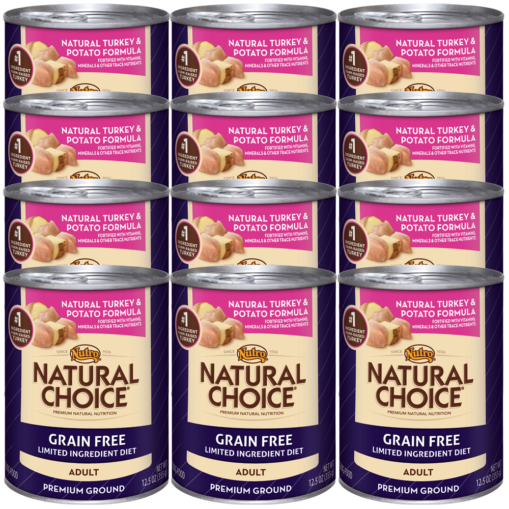 Nutro Natural Choice Grain Free Turkey & Potato - Adult Dog (12x12.5oz)