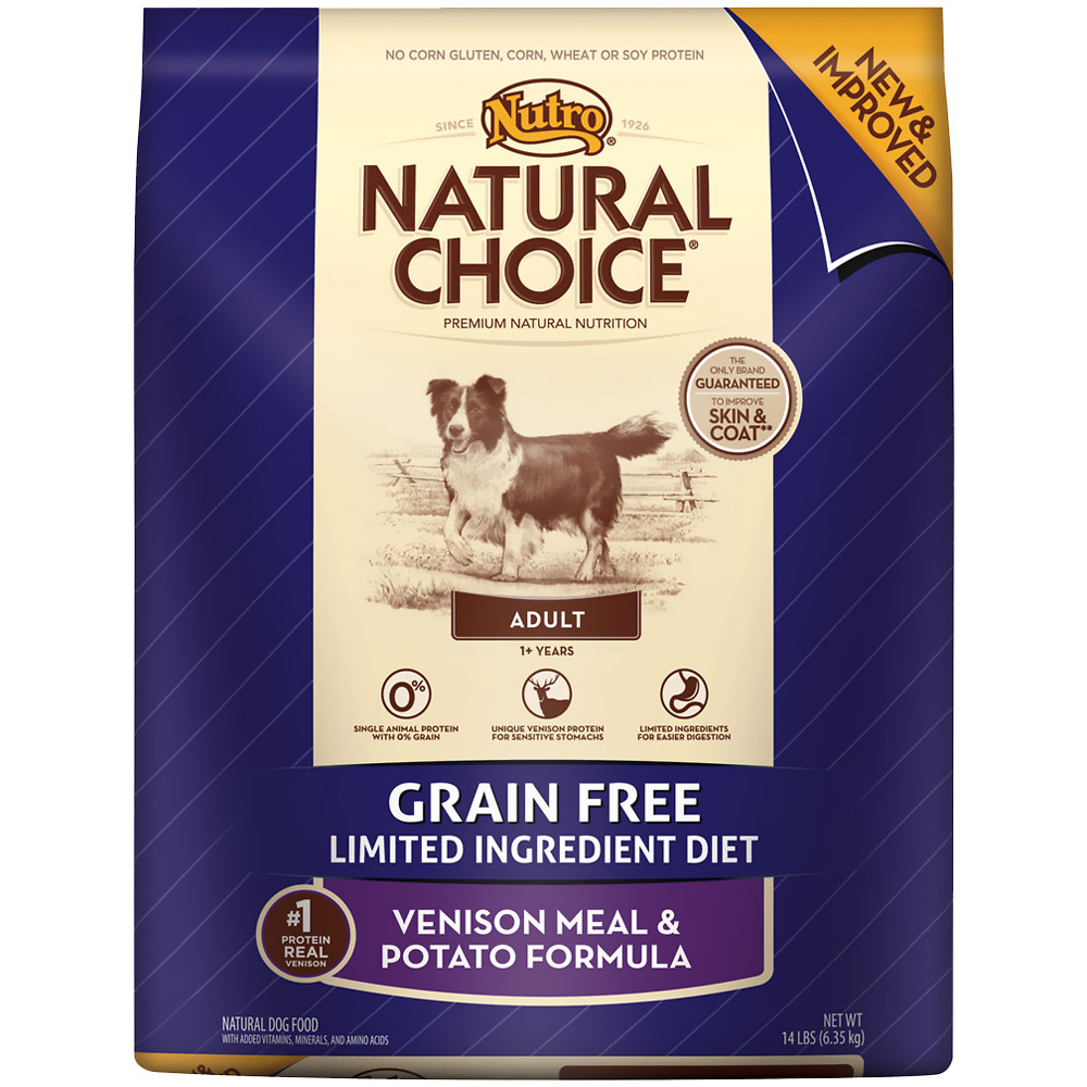 Nutro Natural Choice Grain Free Venison & Potato - Adult Dog (14 lb)
