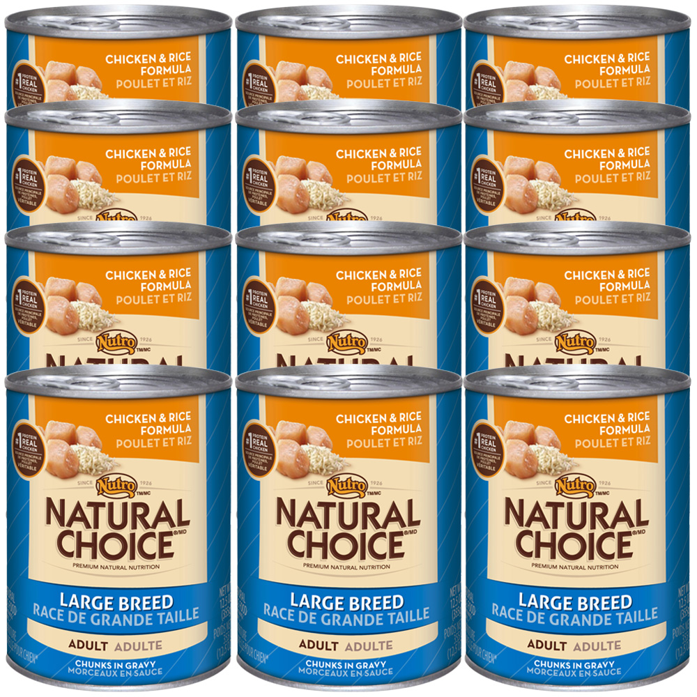 Nutro Natural Choice Large Breed Chicken & Rice - Adult Dog (12x12.5oz)