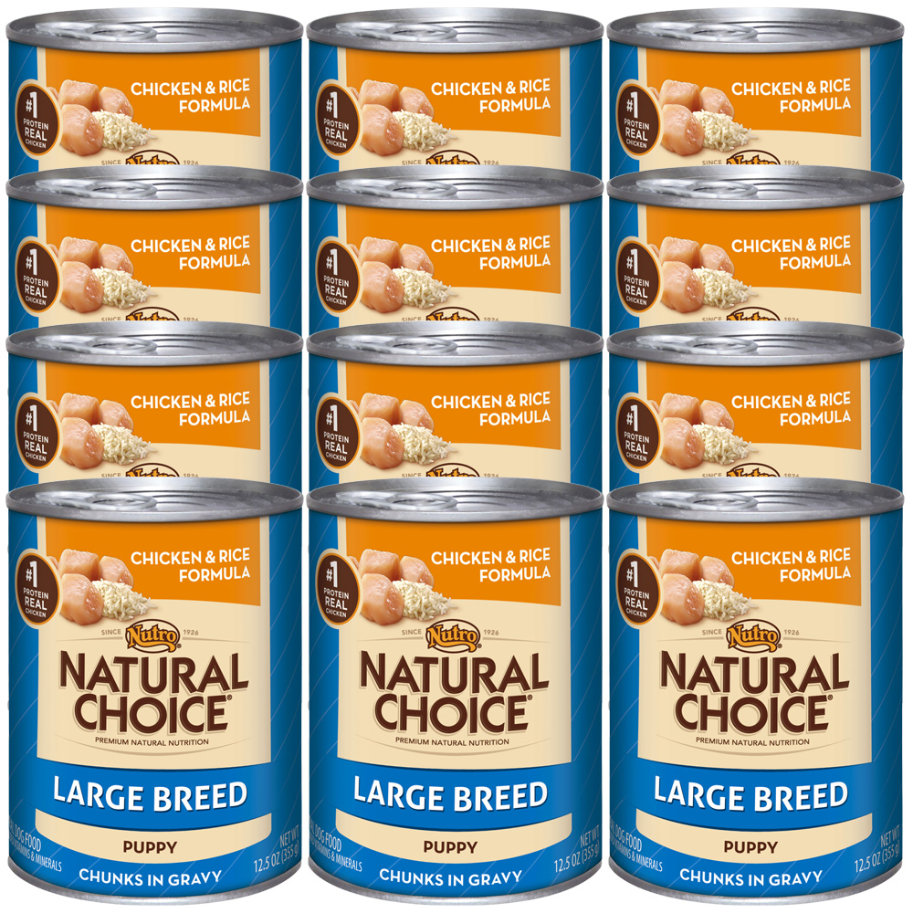 Nutro Natural Choice Large Breed Chicken & Rice - Puppy (12x12.5oz)
