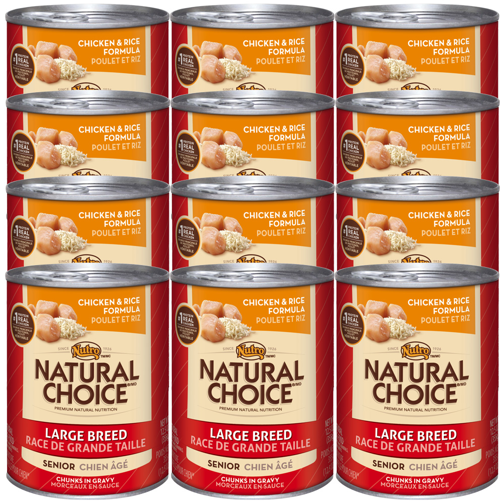 Nutro Natural Choice Large Breed Chicken & Rice - Senior Dog (12x12.5oz)