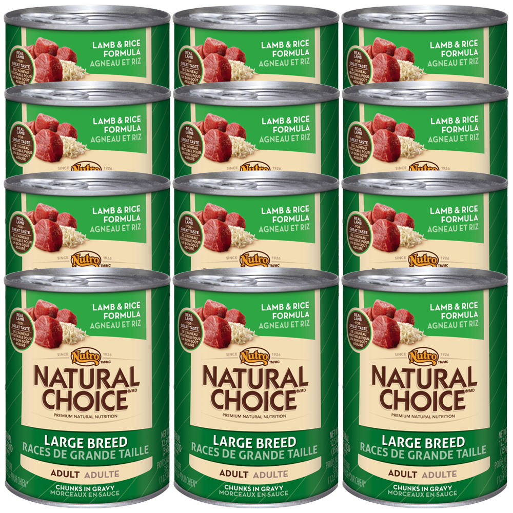 Nutro Natural Choice Large Breed Lamb & Rice - Adult Dog (12x12.5oz)