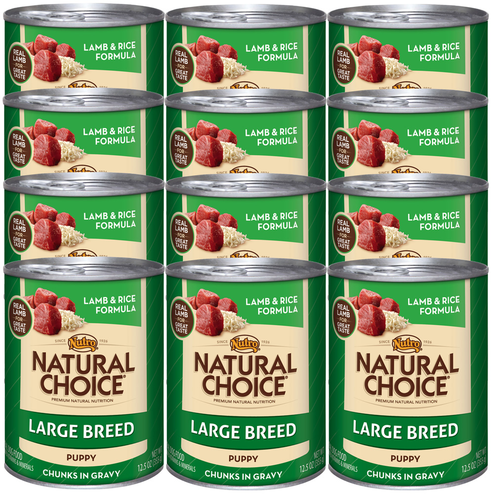 Nutro Natural Choice Large Breed Lamb & Rice - Puppy (12x12.5oz)