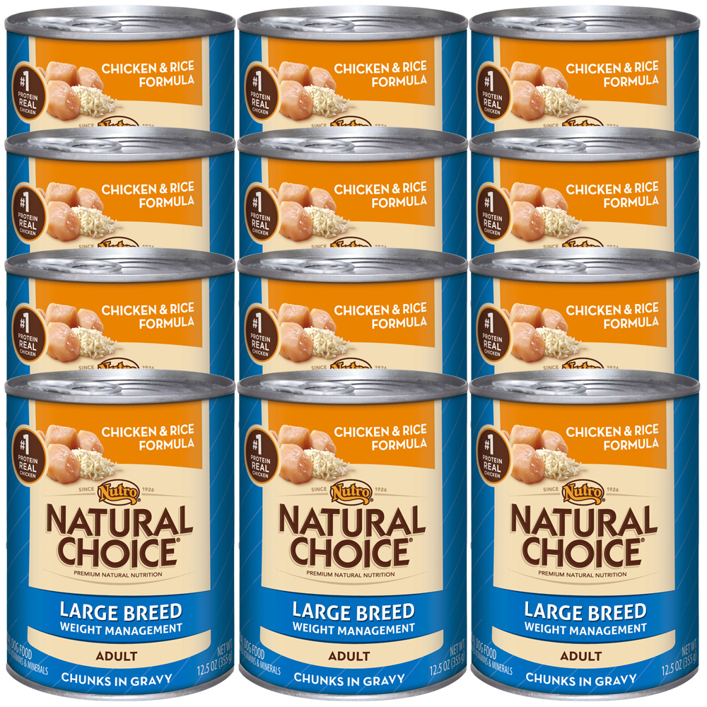 Nutro Natural Choice Large Breed Weight Management Chicken & Rice - Adult Dog (12x12.5oz)