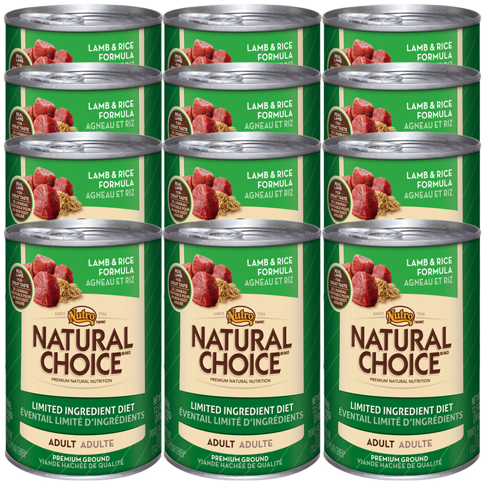 Nutro Natural Choice Limited Ingredient Diet Lamb & Rice - Adult Dog (12x12.5oz)