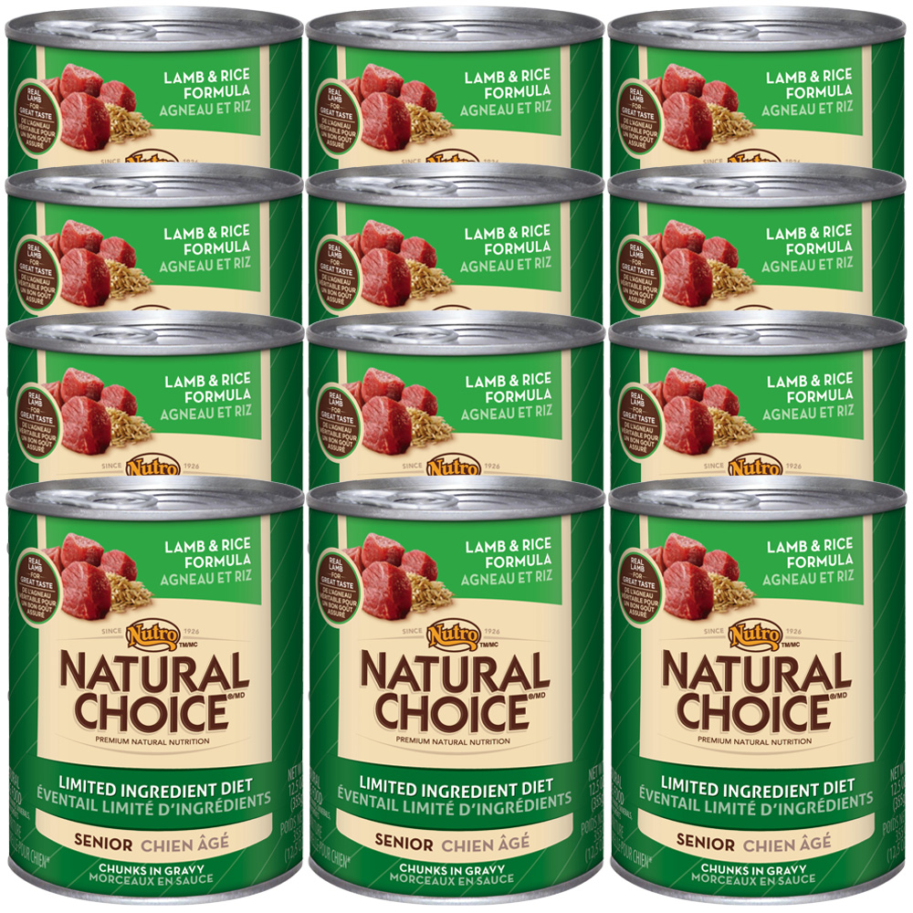 Nutro Natural Choice Limited Ingredient Diet Lamb & Rice - Senior Dog (12x12.5oz)