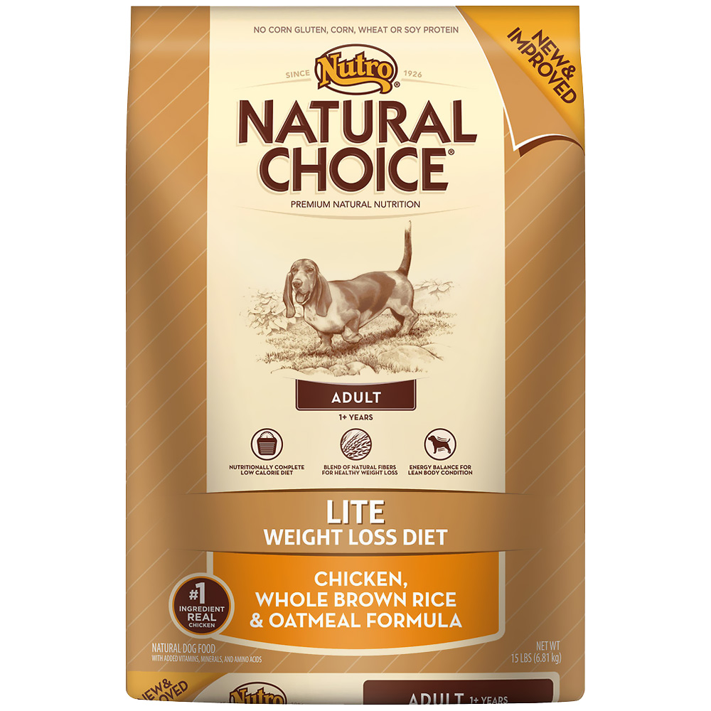 Nutro Natural Choice Lite Chicken, Whole Brown Rice & Oatmeal - Adult Dog (15 lb)