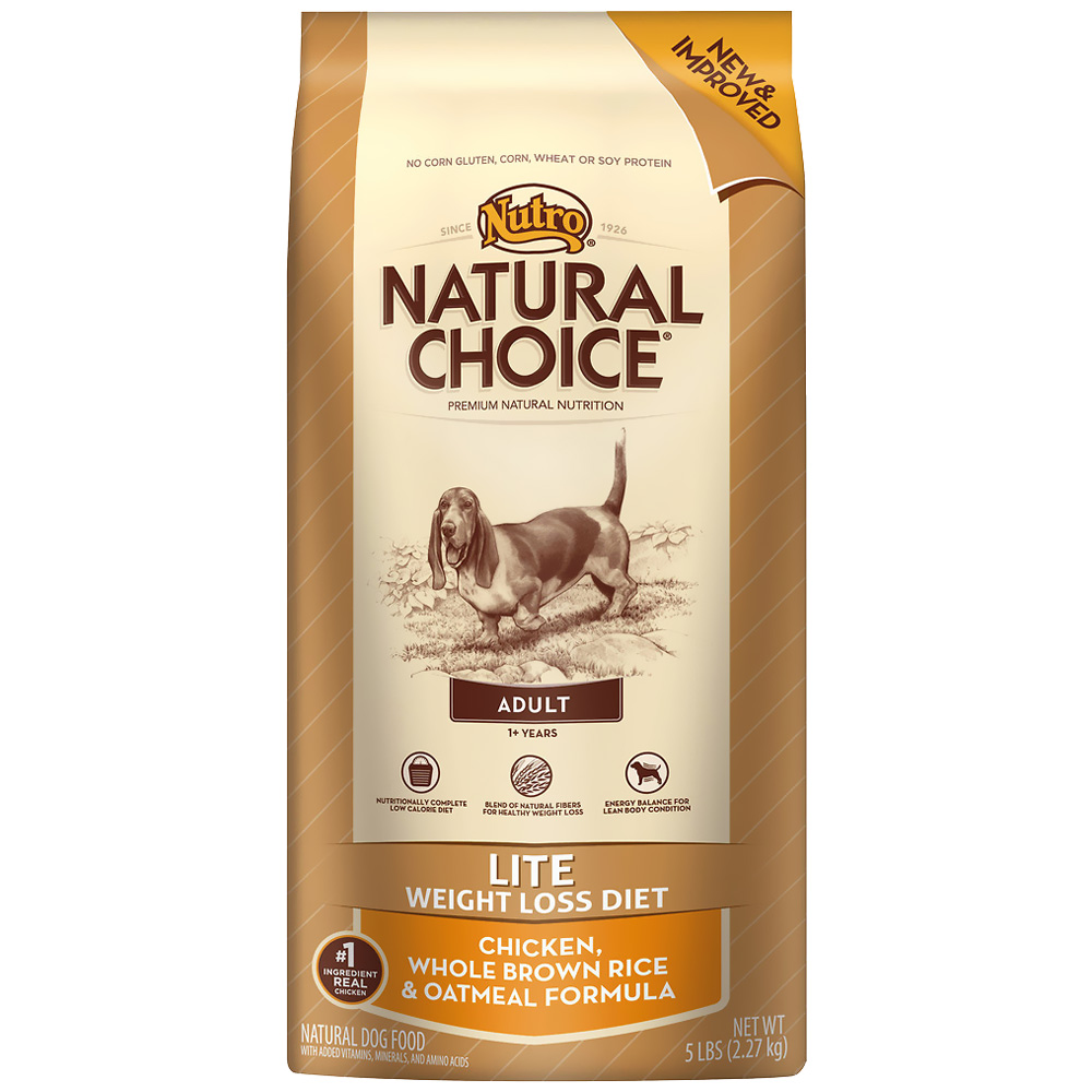 Nutro Natural Choice Lite Chicken, Whole Brown Rice & Oatmeal - Adult Dog (5 lb)