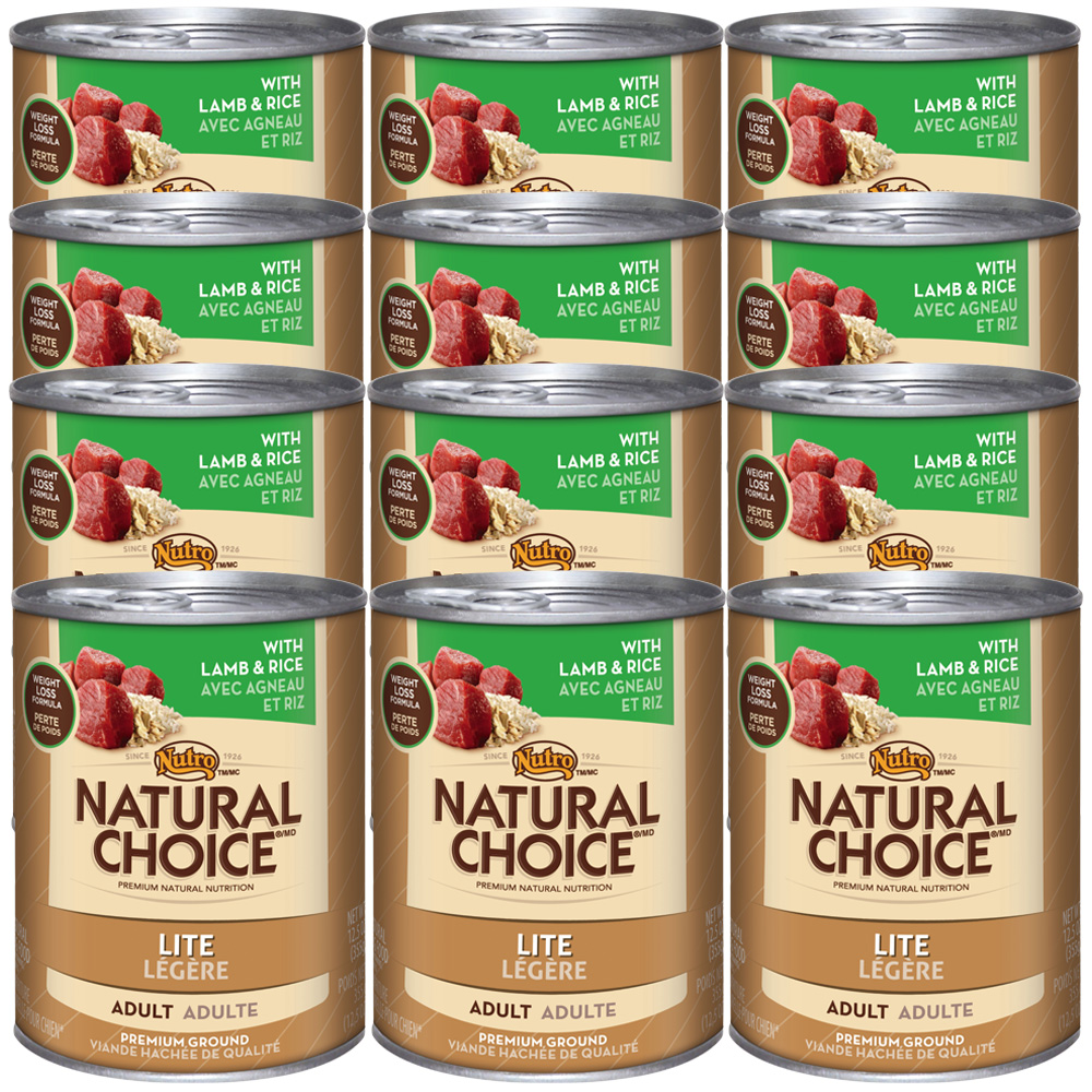 Nutro Natural Choice Lite Lamb & Rice - Adult Dog (12x12.5oz)