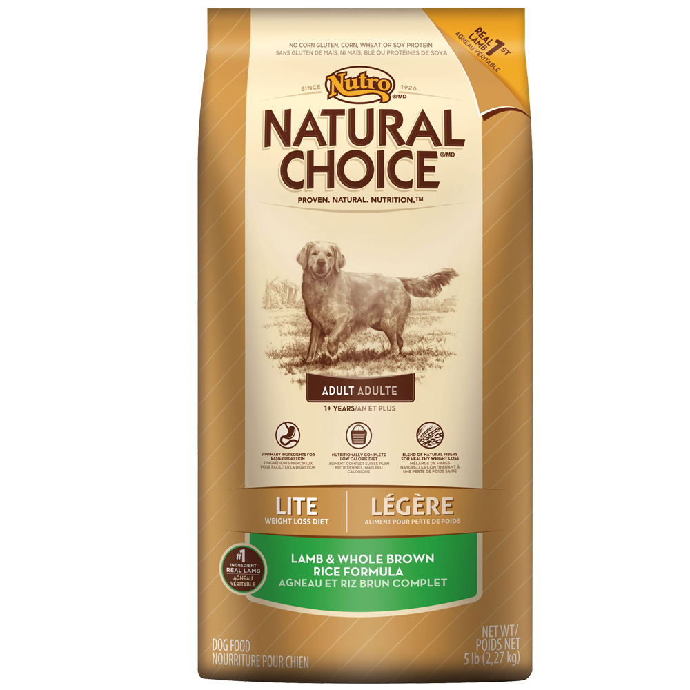 Nutro Natural Choice Lite Lamb & Whole Brown Rice - Adult Dog (5 lb)