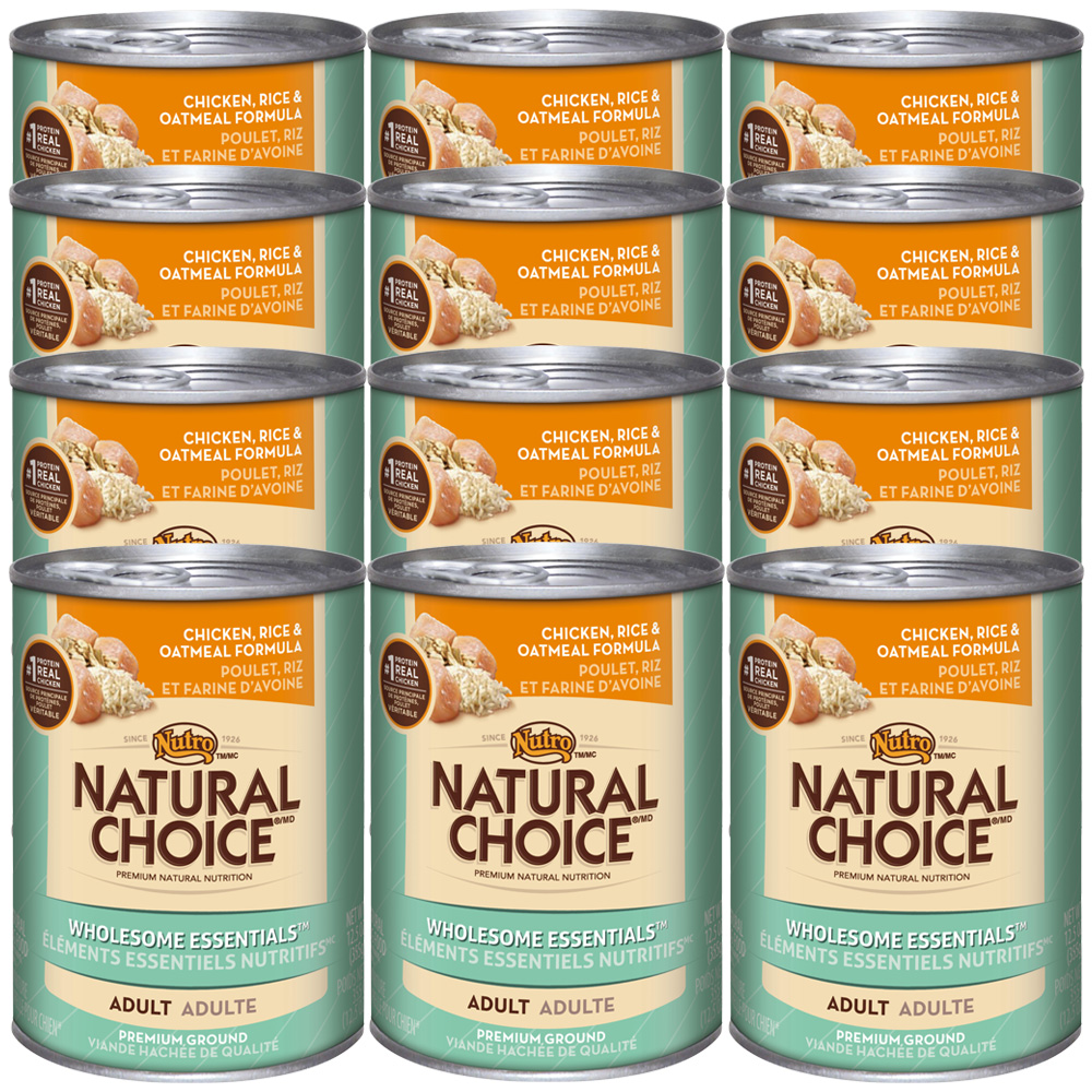 Nutro Natural Choice Wholesome Essentials Chicken, Rice & Oatmeal - Adult Dog (12x12.5oz)