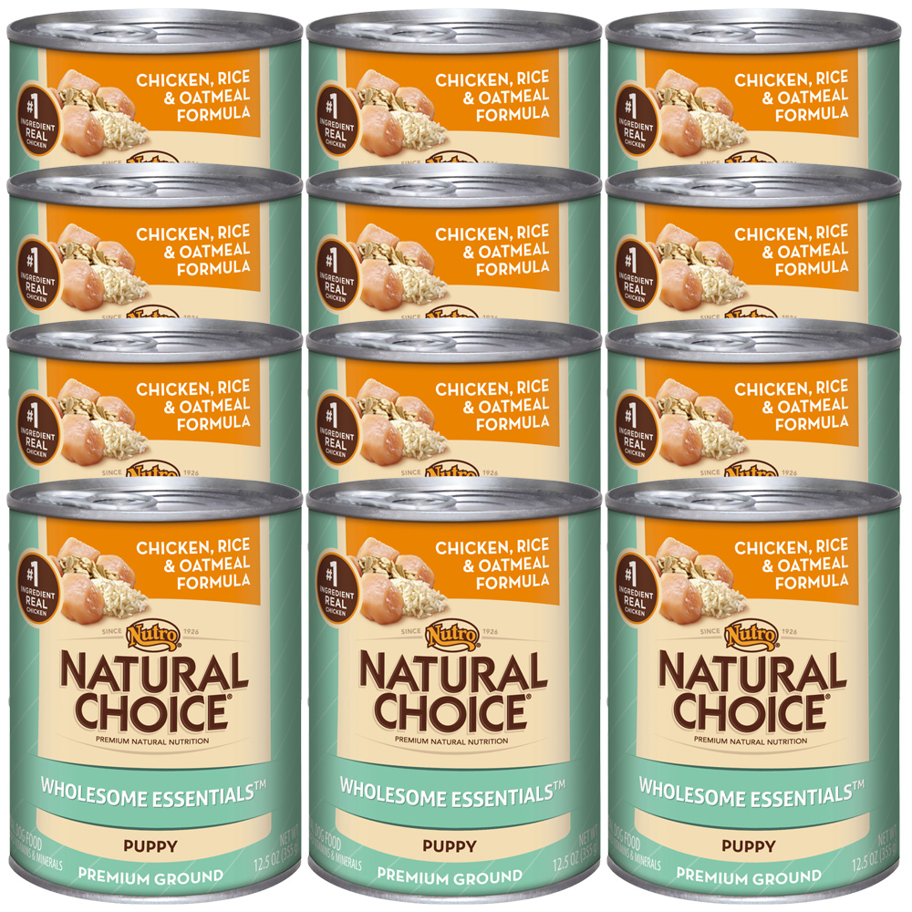 Nutro Natural Choice Wholesome Essentials Chicken, Rice & Oatmeal - Puppy (12x12.5oz)