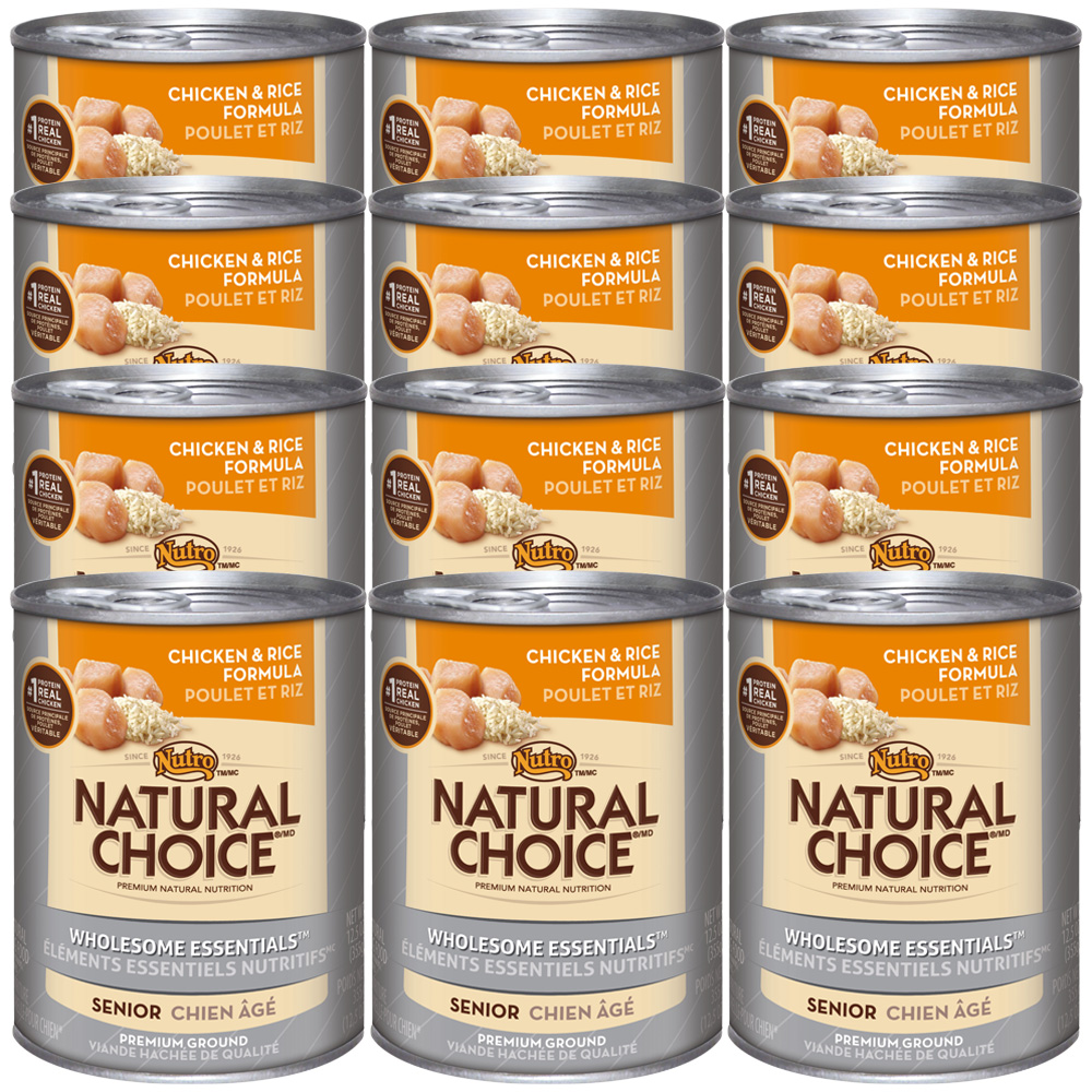 Nutro Natural Choice Wholesome Essentials Chicken & Rice - Senior Dog (12x12.5oz)