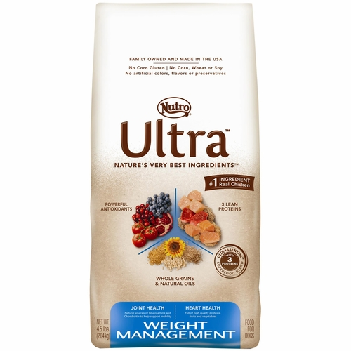 Nutro Ultra Dog Food >> Nutro Ultra Weight Management Dry Dog Food (4.5 lb)