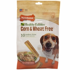 Nylabone Corn & Wheat Free - Real Chicken (10 medium chews)